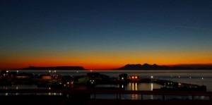 Sunset over Mallaig Harbour